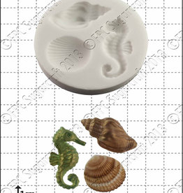 FPC FPC Seahorse & shells/Zeepaard & Schelpen Silicone Mould