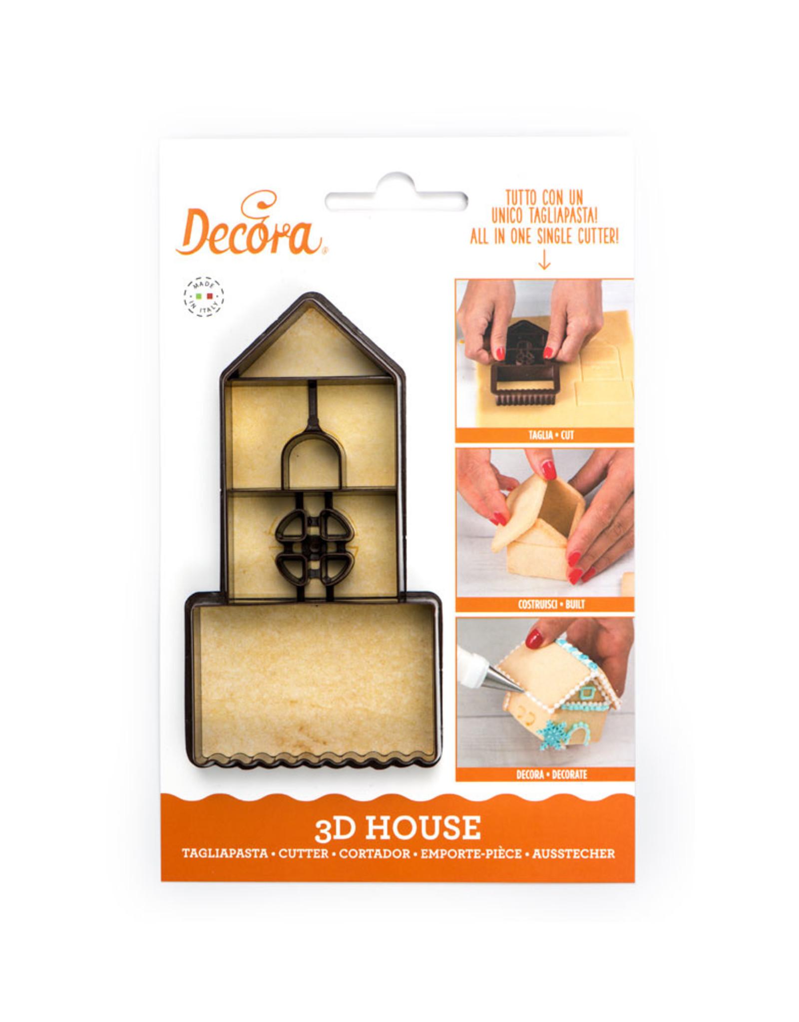 Decora Decora 3D Mini House Cookie Cutter