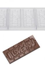 Chocolate World Chocolademal Chocolate World Tablet I Love You (4x)
