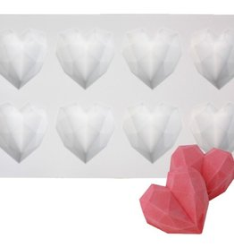 Diamond Heart 3D Cakesicle Silicone Mould