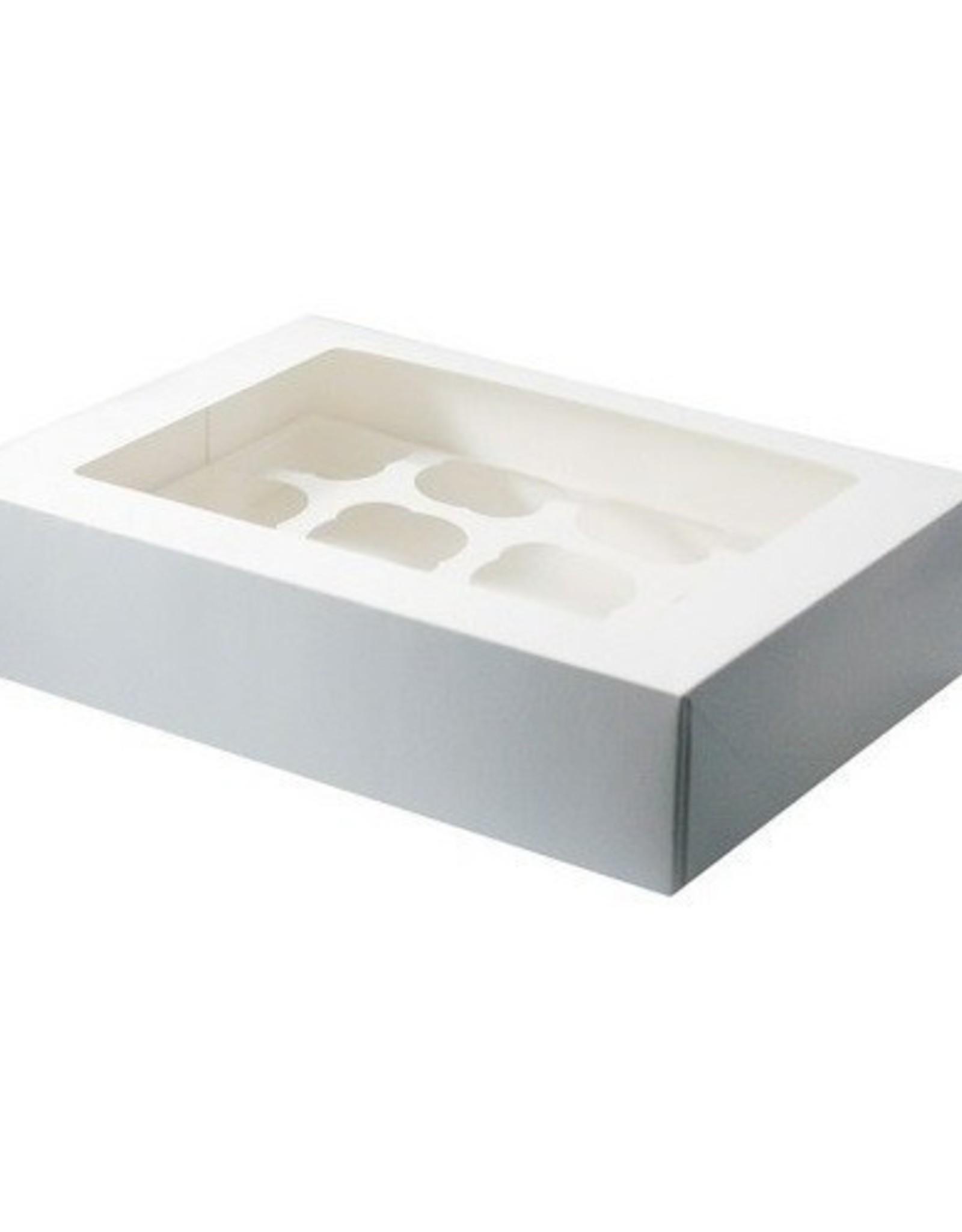 BNC Cupcake Doosje 12 Wit (incl. tray met venster) 3st.