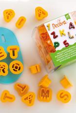 Decora Decora Uitstekerset Alfabet & Nummers /36