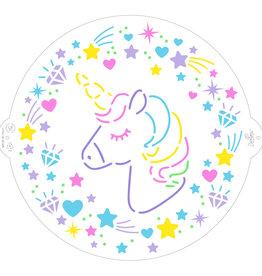 Decora Decora Stencil Ø25cm Unicorn
