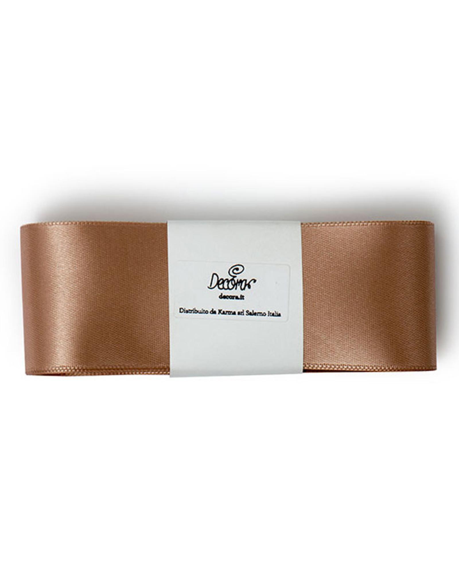 Double Satin Ribbon 40mm x 3mtr Caffe Latte