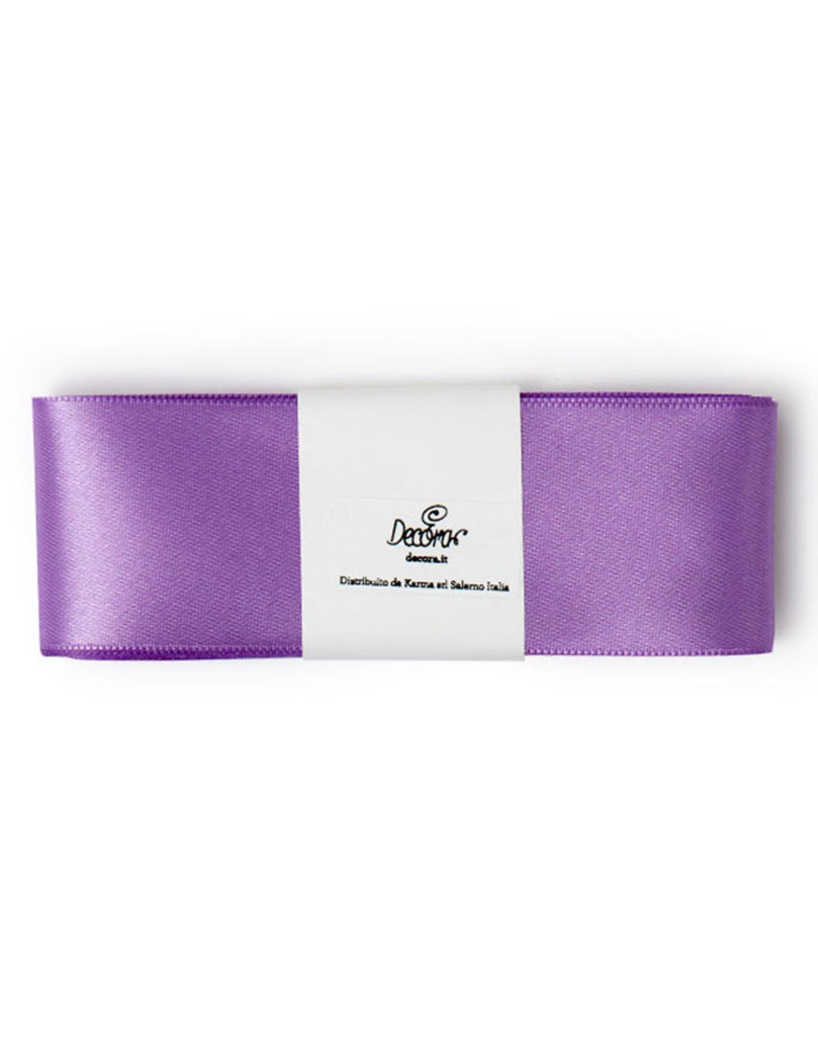 Double Satin Ribbon 40mm x 3mtr Soft Lilac