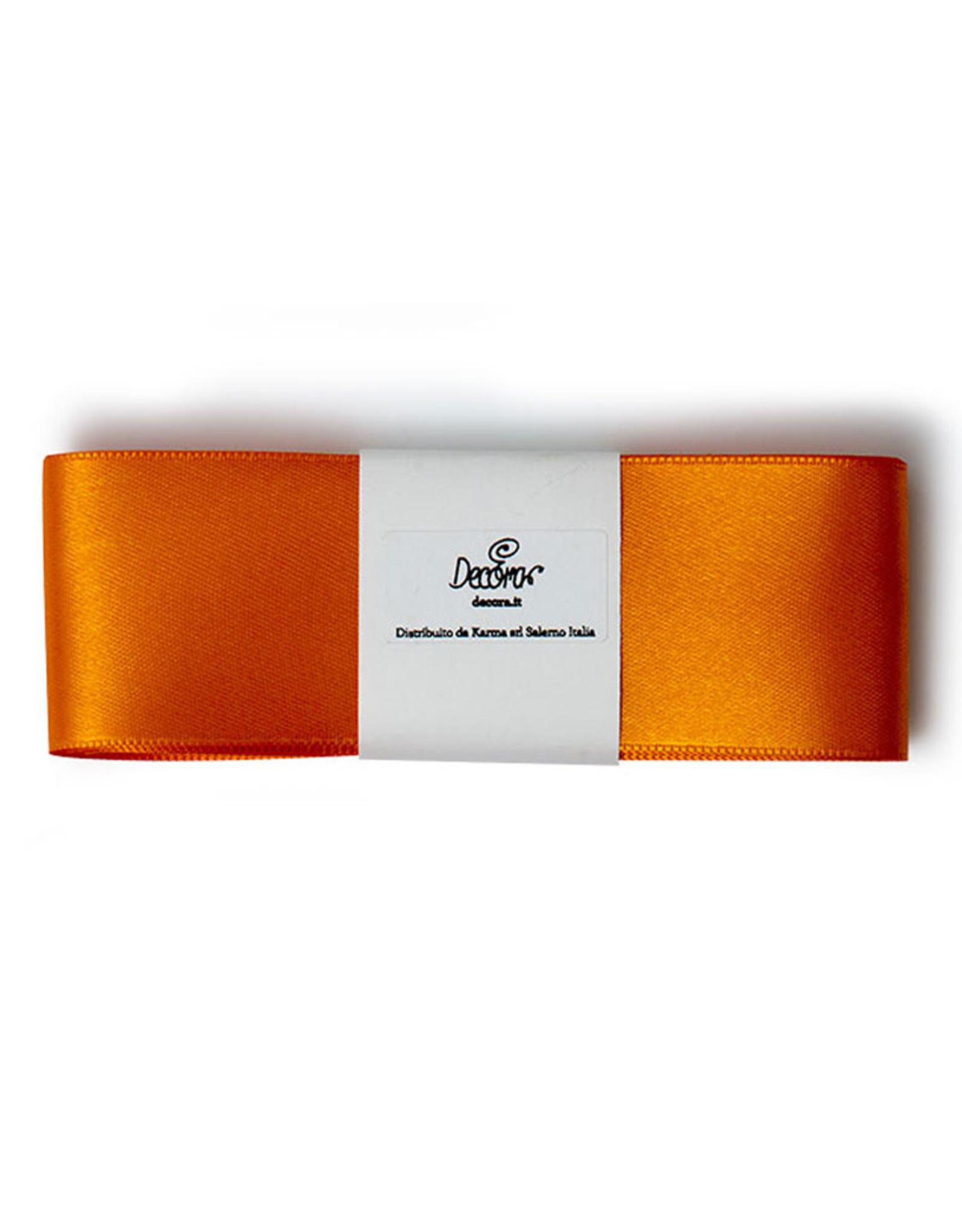 Double Satin Ribbon 40mm x 3mtr Orange
