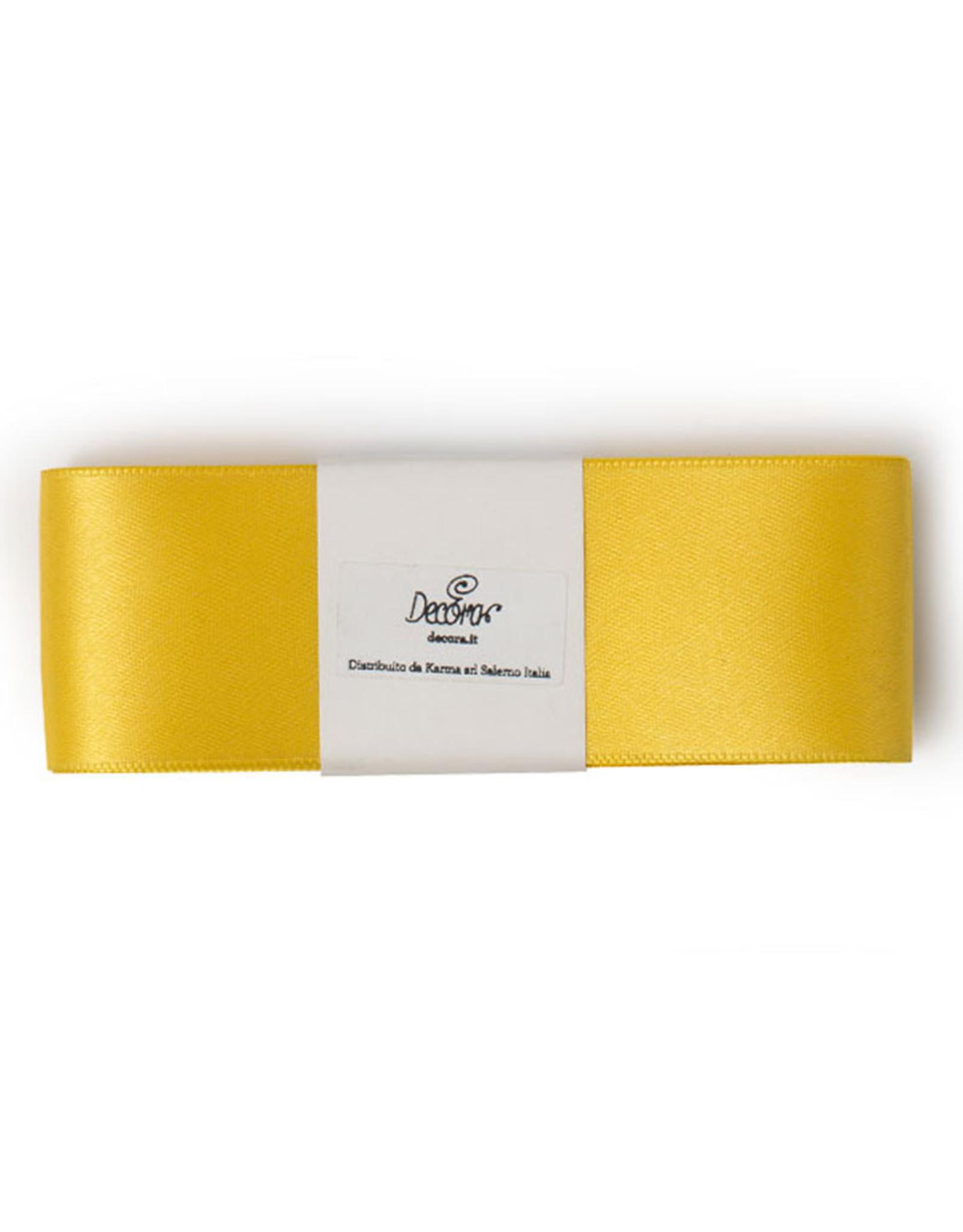 Double Satin Ribbon 40mm x 3mtr Yellow