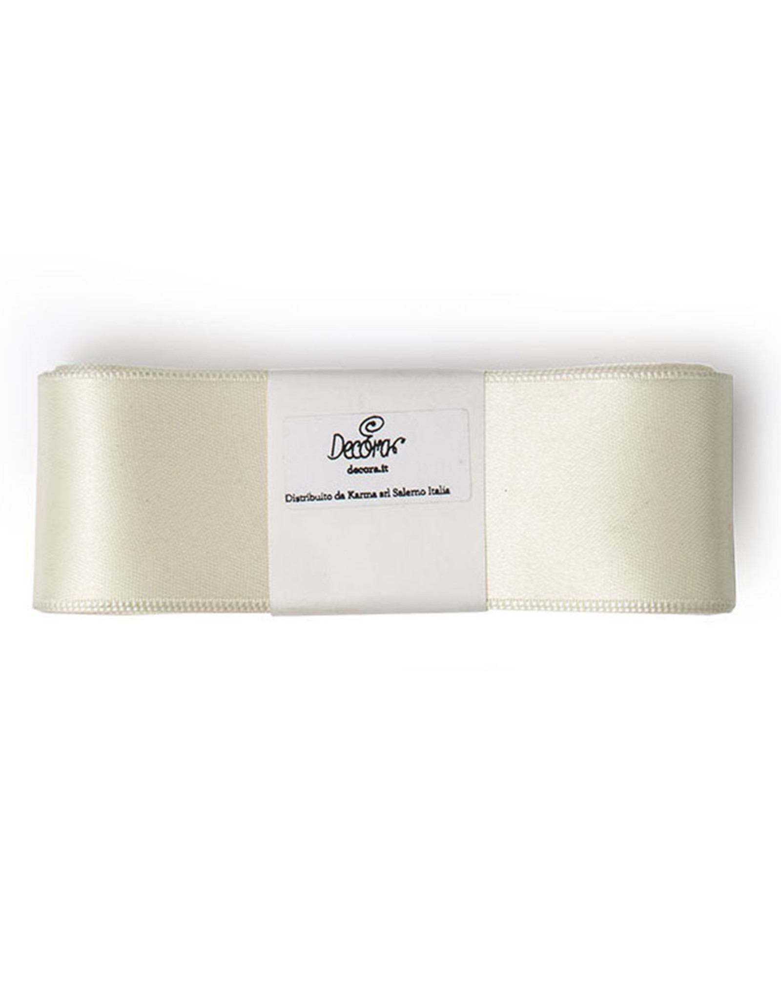 Double Satin Ribbon 40mm x 3mtr Cream White