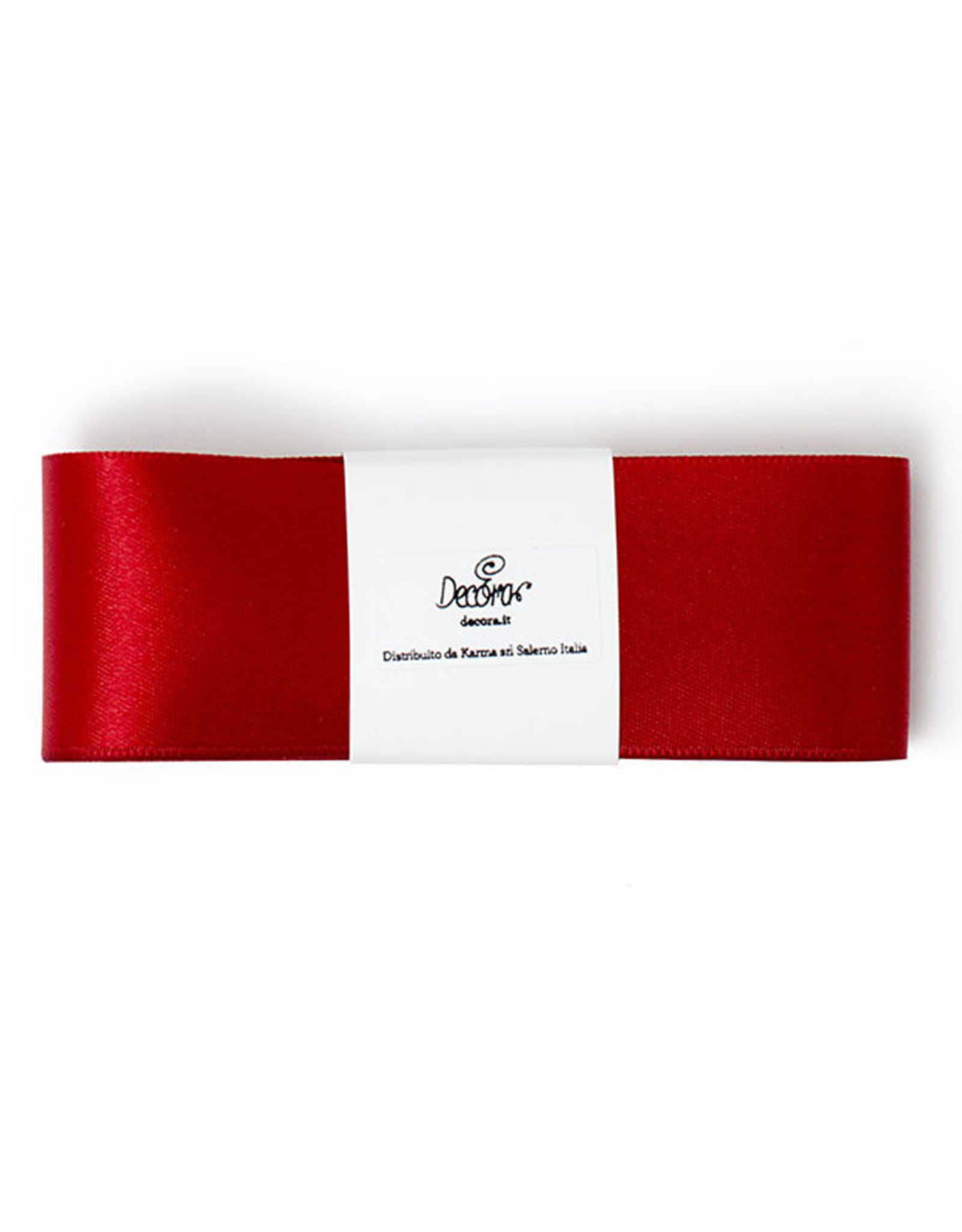 Double Satin Ribbon 40mm x 3mtr Warm Red
