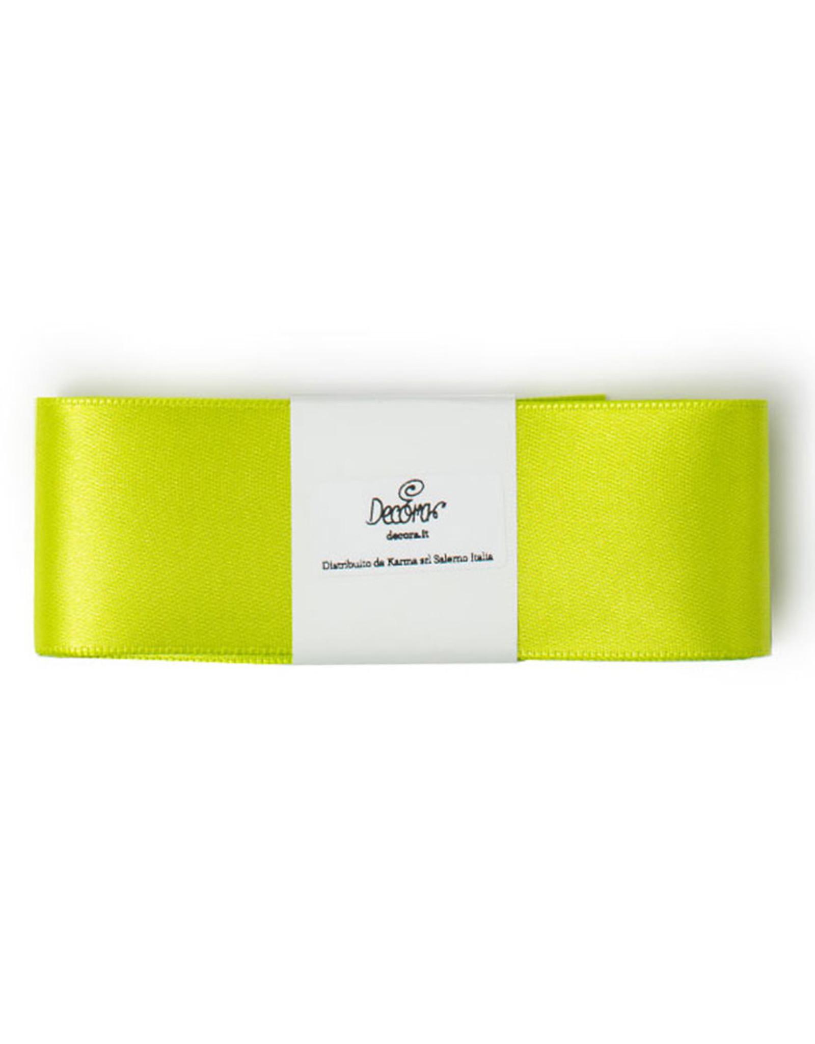 Double Satin Ribbon 40mm x 3mtr Apple Green