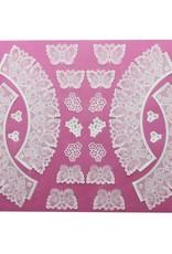 Claire Bowman Claire Bowman 3D Lace Mat Butterflies Cupcake Wrapper