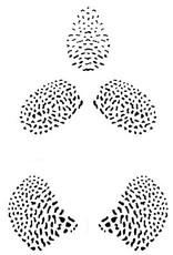 JEM JEM Orchid Dot - Stencil Set of 3