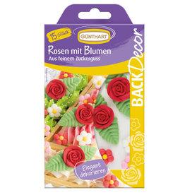 Günthart Suikerdecoratie Rozen en Bloemen 15st.