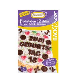 Günthart Chocoladedecoratie Letters en Cijfers 90st.