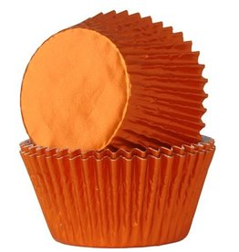 House of Marie House of Marie Baking Cups Folie Oranje pk/24