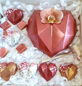 Large Diamond Heart 3D Silicone Mould