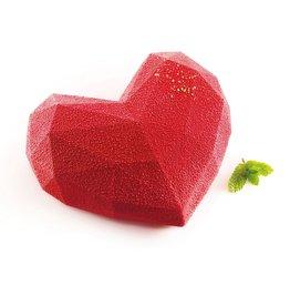 Silikomart Mould Amore Origami Geometric Heart Large
