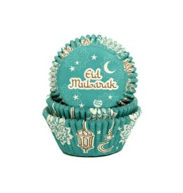 House of Marie House of Marie Baking Cups Eid Mubarak pk/50