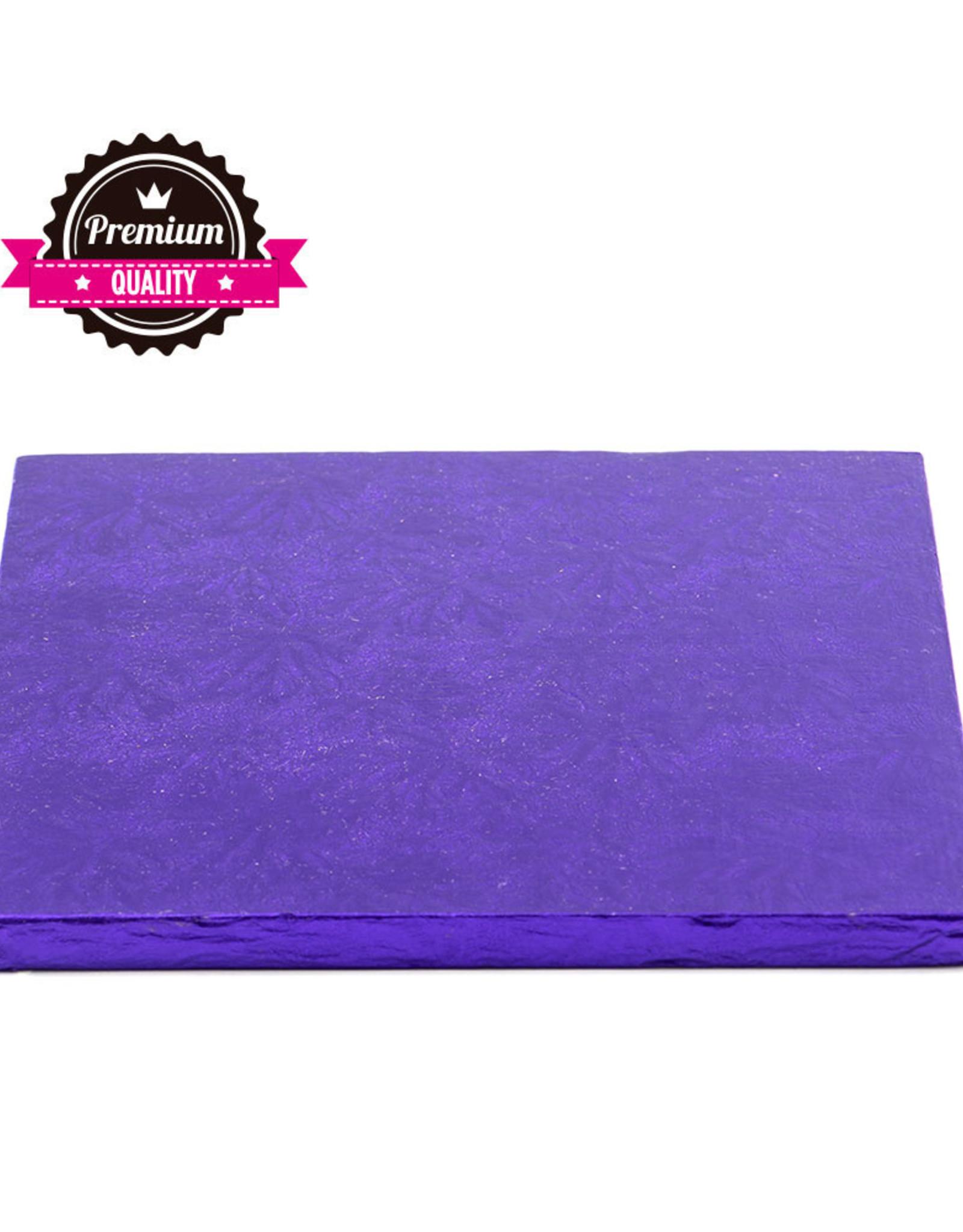 Decora Cake Drum Vierkant 25cm Violet
