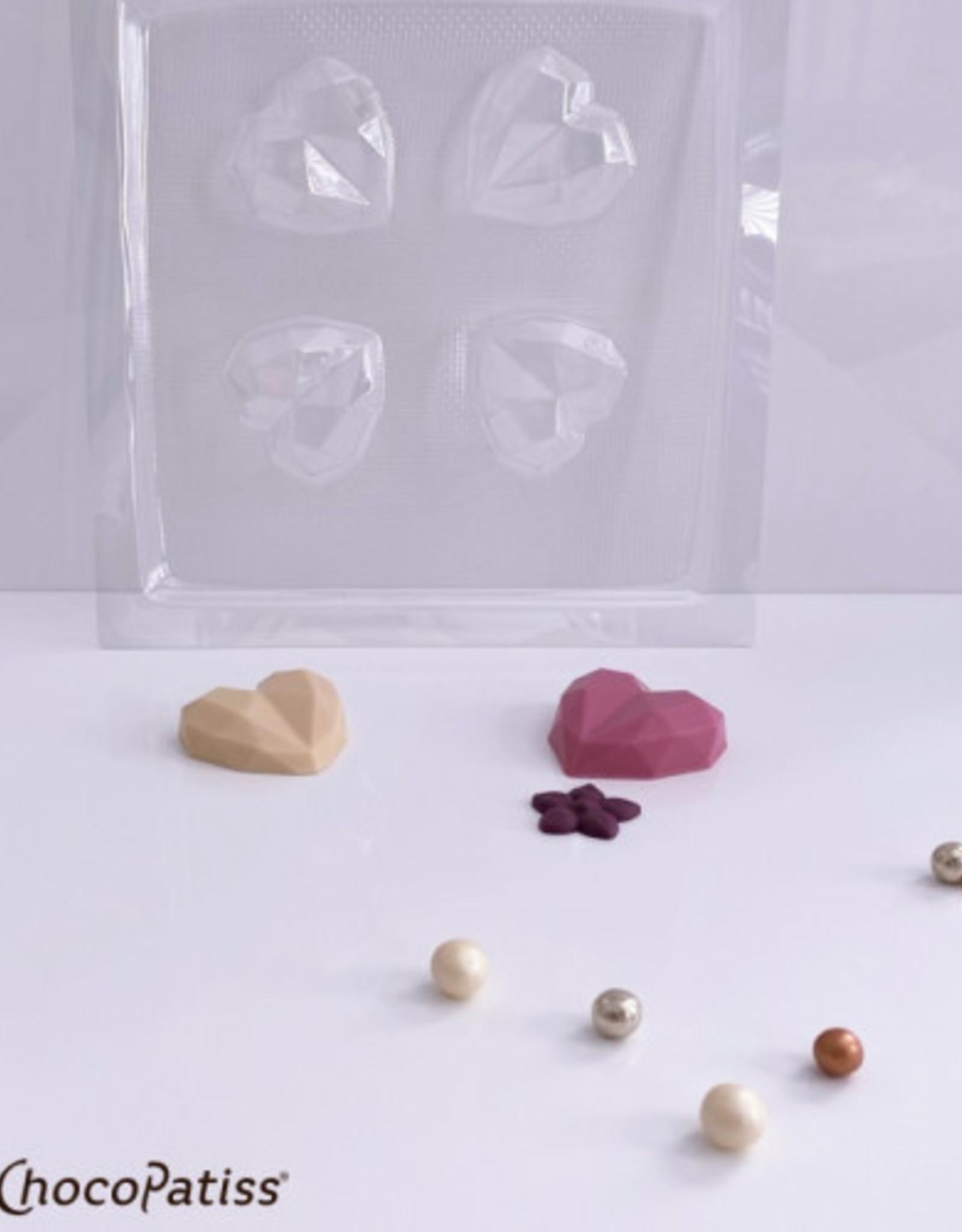 ChocoPatiss Chocolade Holvorm Geo Hart (4x) 5,5x5,5x1,5cm