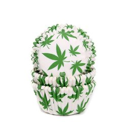 House of Marie House of Marie Baking Cups Marijuana pk/50