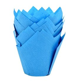 House of Marie House of Marie Muffin Cups Tulp Blauw pk/36