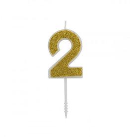 Overig Cijferkaars Goud Glitter -2-