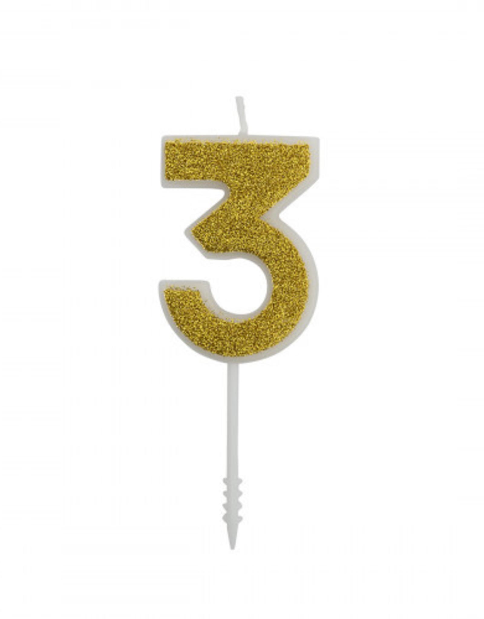Overig Cijferkaars Goud Glitter -3-