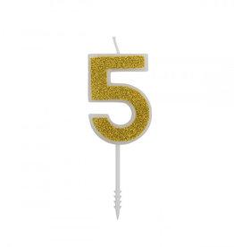 Overig Cijferkaars Goud Glitter -5-