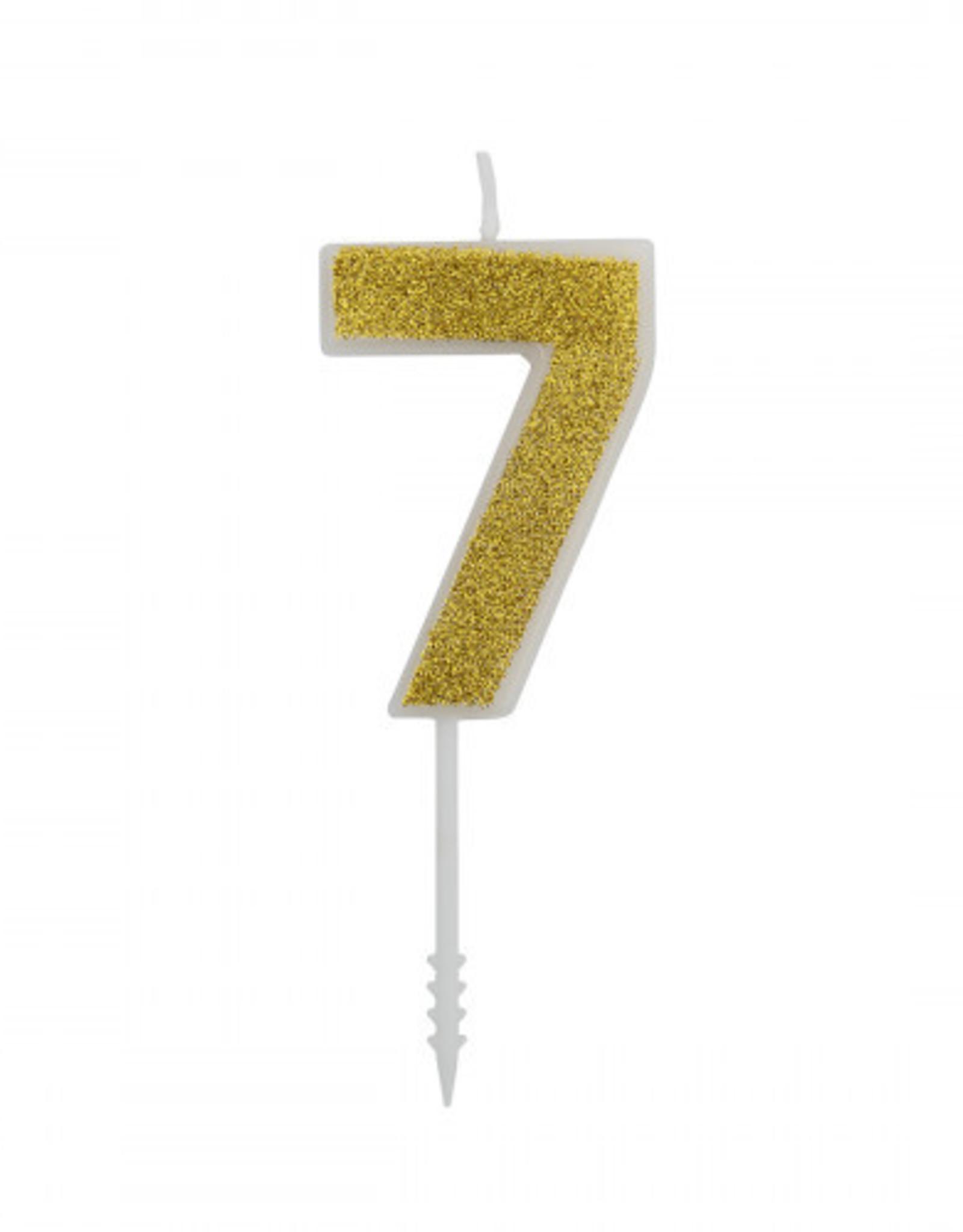 Overig Cijferkaars Goud Glitter -7-