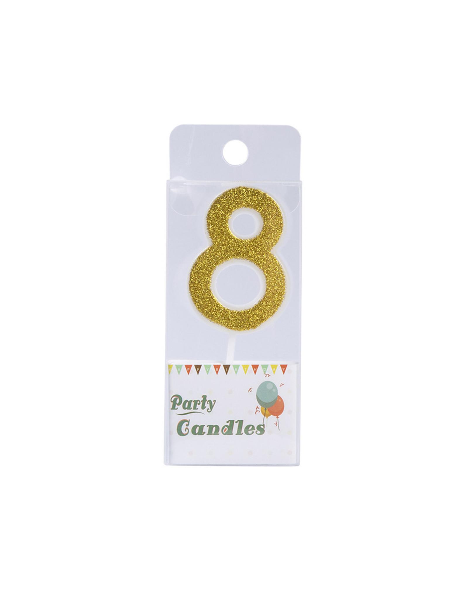 Overig Cijferkaars Goud Glitter -8-