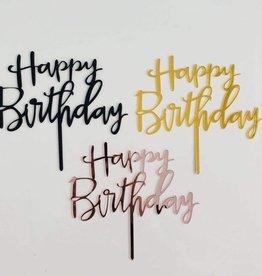 Overig Happy Birthday Zwart