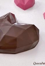 ChocoPatiss Chocolade Holvorm Diamant Hart (2x) 8x8,5x2,5cm