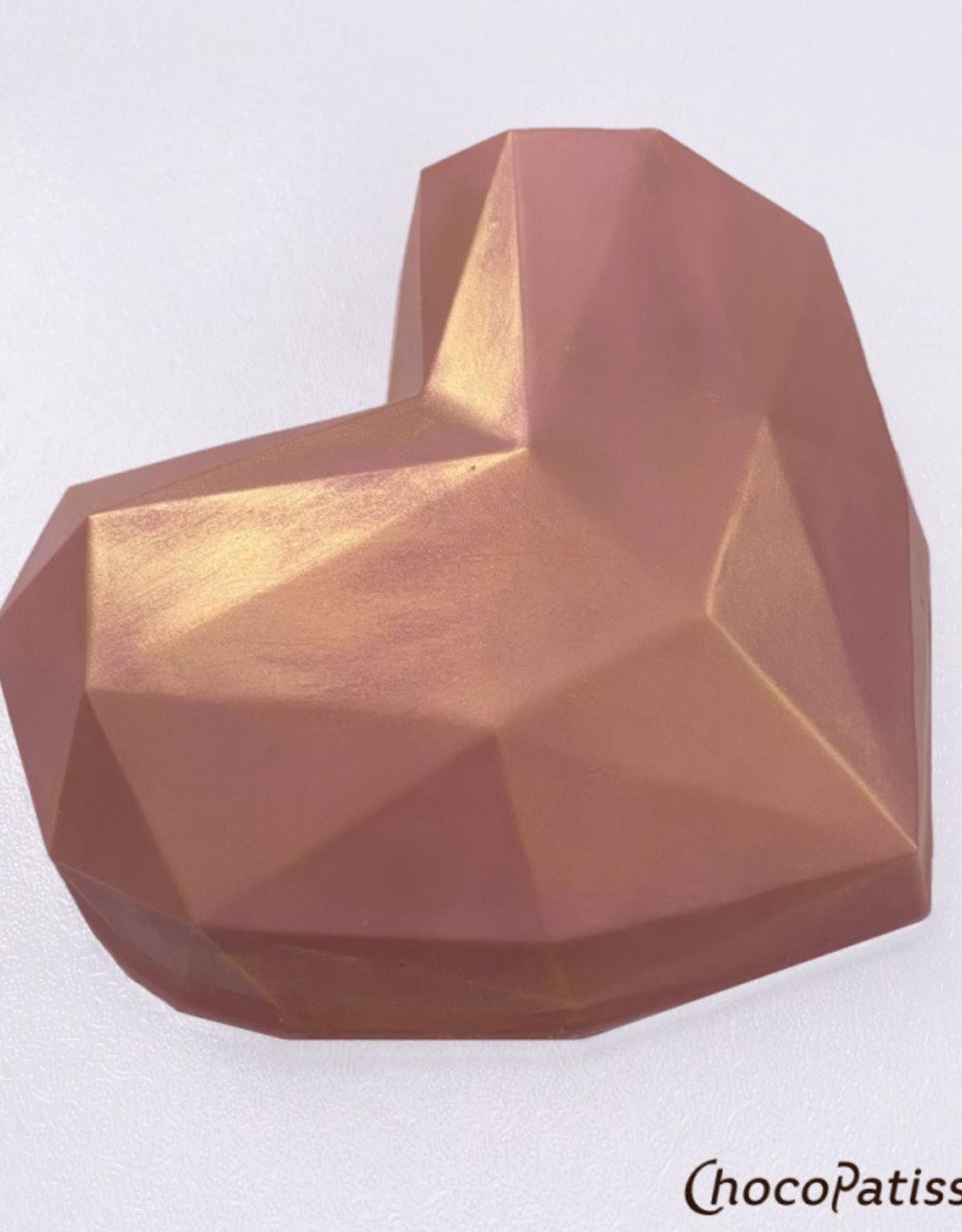ChocoPatiss Chocolade Holvorm Diamant Hart 13,5x15x4cm