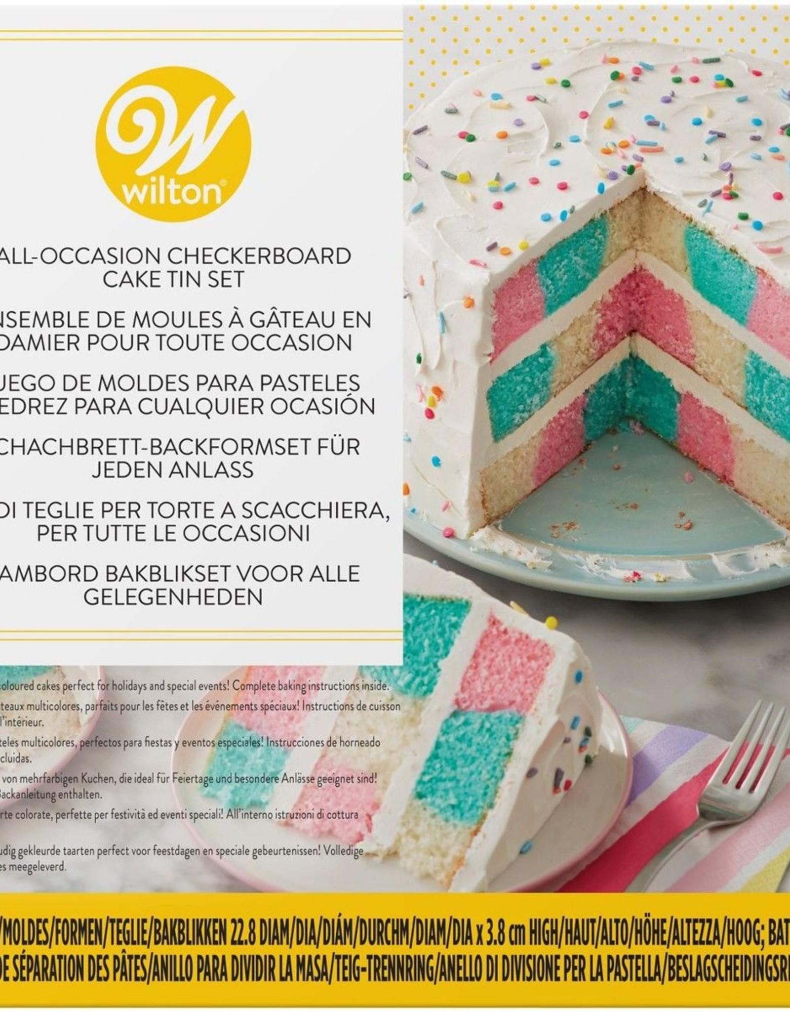 Wilton Wilton Checkerboard Round Cake Set/4