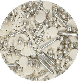 FunCakes FunCakes Sprinkle Medley Silver Chic 65 g