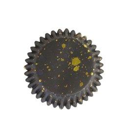 PME PME Folie Cupcakevormpjes Zwarte & Gouden Vlekjes pk/30