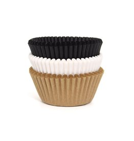 House of Marie House of Marie Baking Cups Assorti Naturel pk/75