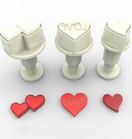 Dekofee Dekofee Mini Plungers Hearts Set set/3