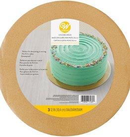 Wilton Cake Board Glitter Gold pk/3
