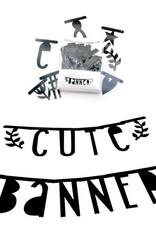 A Little Lovely Company ALLC Letter Banner Black Set/147