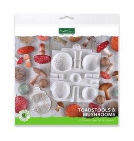 Katy Sue Designs Katy Sue Mould & Veiner Toadstools and Mushrooms