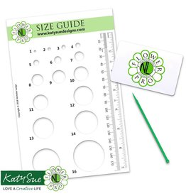 Katy Sue Designs Katy Sue Mould Flower Pro Size Guide / Companion Tool / Flex