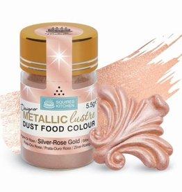 Squires Kitchen SK Designer Metallic Lustre Dust Silver - Rose Gold - 5.5g
