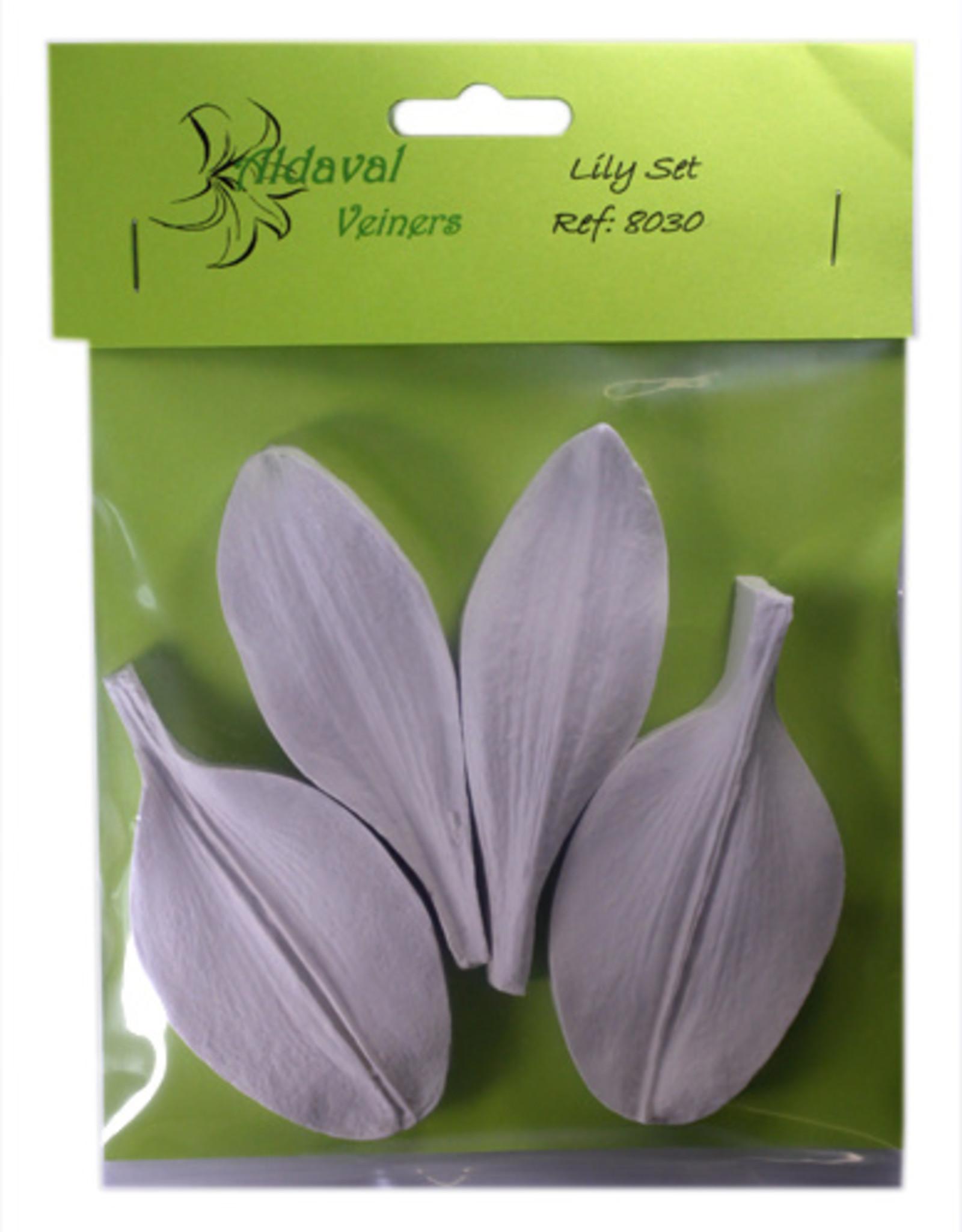 Aldaval Veiners Aldaval Lily petal Veiner Set  3.5 x 9.7cm and 4.9 x 9.4cm