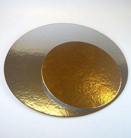 FunCakes Taartkartons Zilver/Goud Ø 35 cm, 100 stuks