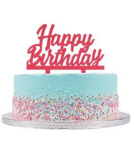 Cake Star Cake Topper Happy Birthday Roze