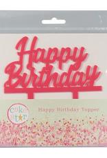 Cake Star Cake Star Cake Topper Happy Birthday Roze