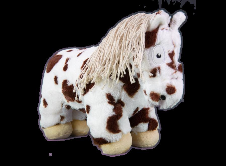Paardenknuffel Bruin bont incl. boekje