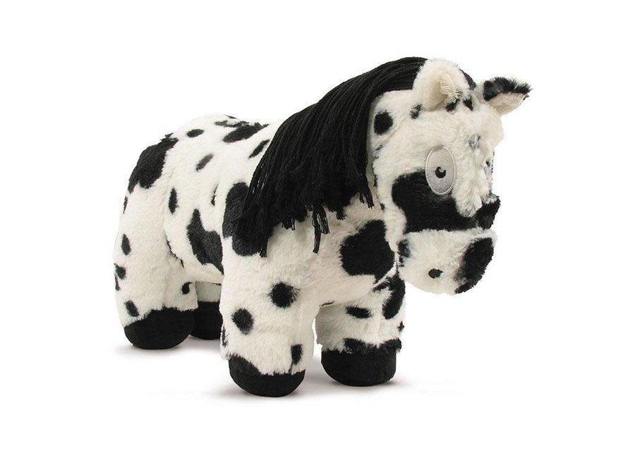 Paardenknuffel Zwart bont incl. boekje